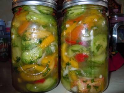салат из зеленых помидор на зиму рецепты с фото пальчики оближешь