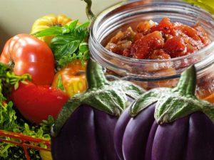 салат на зиму из баклажанов сладких перцев и помидоров самый вкусный