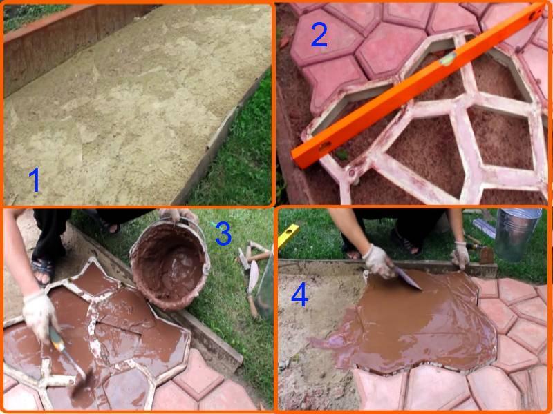 Как сделать круглую садовую дорожку