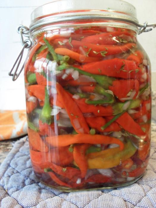 маринованные острые перцы на зиму рецепты с фото