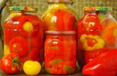 Перец фаршированный овощами на зиму по-болгарски