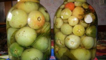 Маринованные зеленые помидоры как в магазине в советское время