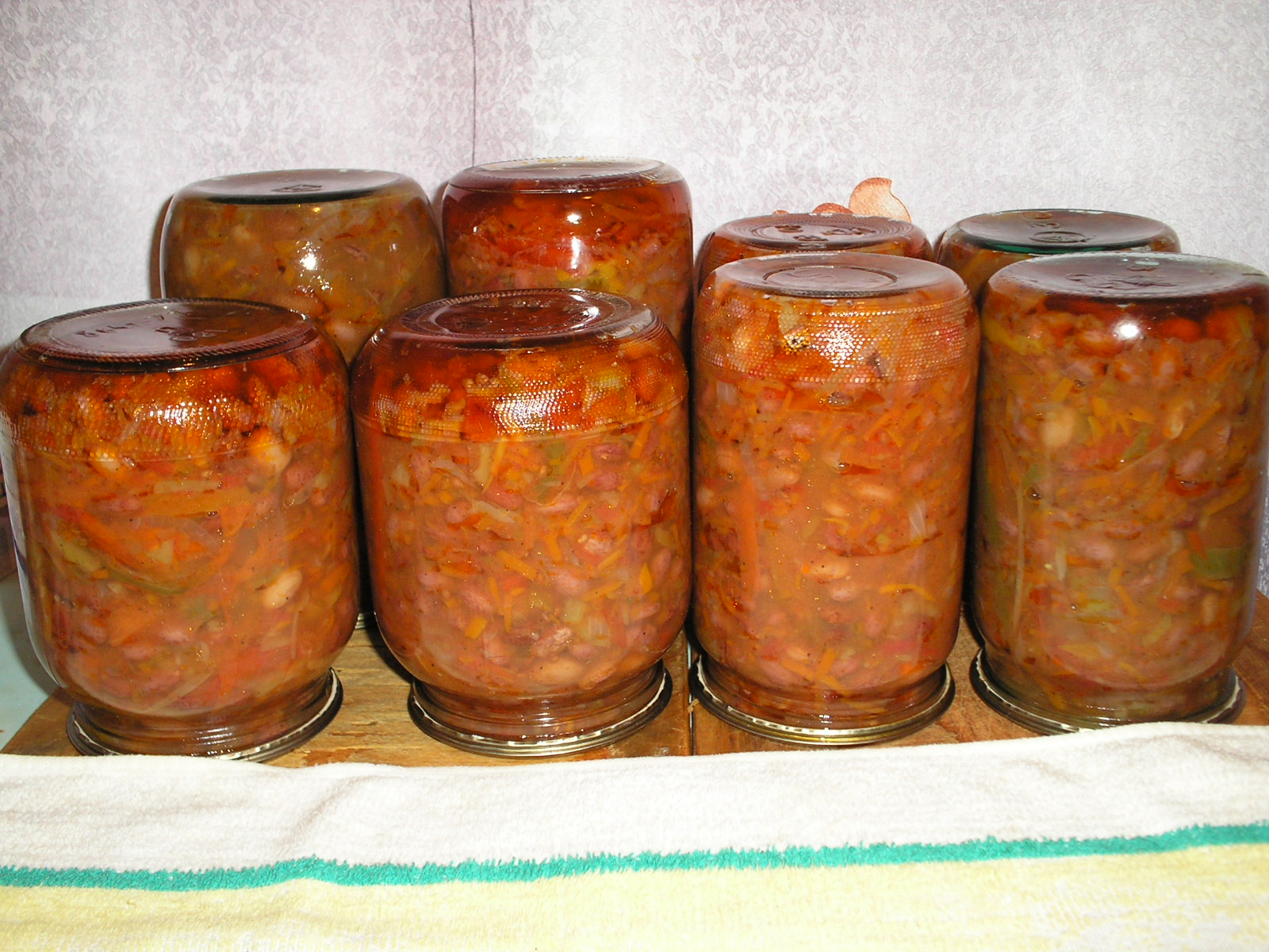 Салат на зиму с фасолью и рецепты