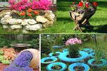Миниатюра к статье Украшение сада из подручного материала своими руками