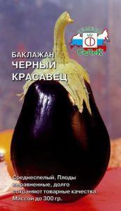баклажан черный красавец характеристика и описание сорта