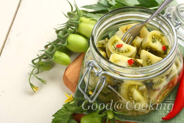 маринованные зеленые помидоры рецепт как в магазине