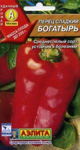 Перец Богатырь - характеристика и урожайность сорта с отзывами