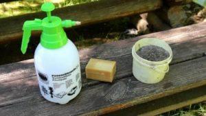 Древесная зола с мылом