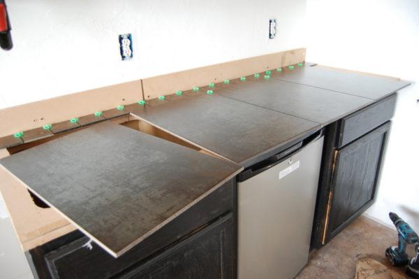 как сделать столешницу на кухню