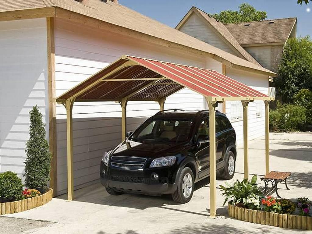 Навес для автомобиля: идеи проектов с фото укрытия для авто