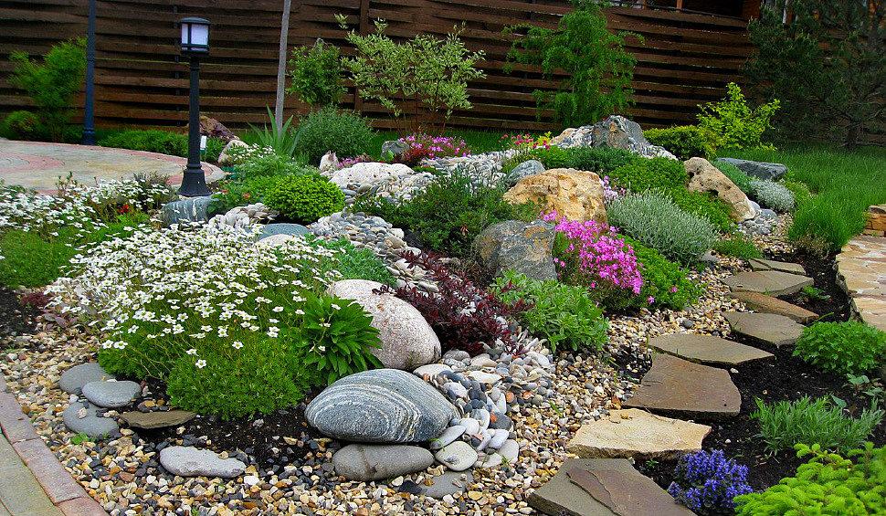 Рокарий своими руками: подбор камней, растений, пошаговое создание, идеи с фото
