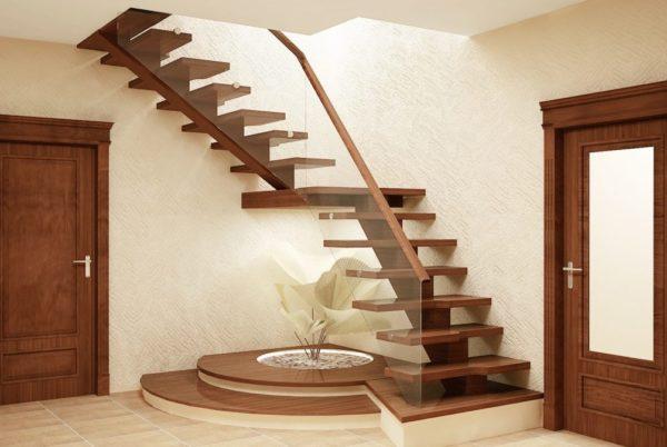 вариант лестницы для частного дома
