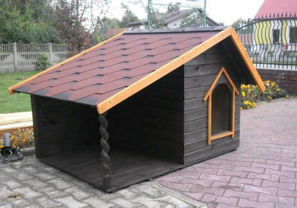 как построить собачью будку