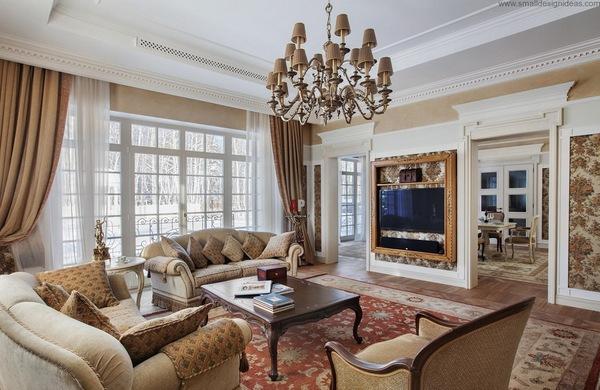 Дизайн интерьера загородного дома в классическом стиле