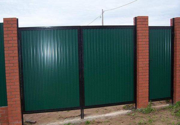 ворота на даче своими руками