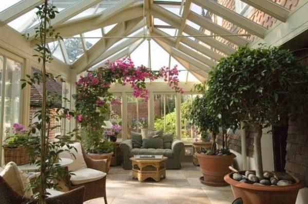 как отапливать зимний сад в доме